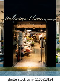 KRAKOW, POLAND - March 20, 2018:  Itallisima home by Eva Mingle store in Bonarka City Center