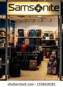 KRAKOW, POLAND - March 20, 2018: Samsonite store in Bonarka City Center