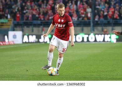 KRAKOW, POLAND - MARCH 31, 2019: Polish Premier Football League Wisla Krakow - Legia Warszawa o/p Jakub Blaszczykowski