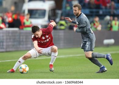 KRAKOW, POLAND - MARCH 31, 2019: Polish Premier Football League Wisla Krakow - Legia Warszawa o/p Marko Kolar, Domagoj Antolic