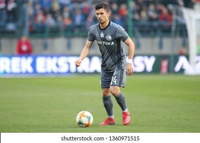 KRAKOW, POLAND - MARCH 31, 2019: Polish Premier Football League Wisla Krakow - Legia Warszawa o/p Andre Martins