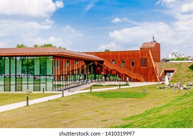 KRAKOW, POLAND - MAY 25, 2019: The Karcher Hala Cracovia, a multipurpose arena complex in Krakow, Poland.