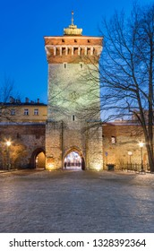 Krakow, Poland, medieval Florianska gate, part of city walls