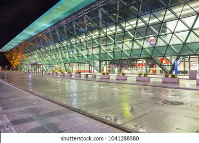Krakow, Poland - November 11, 2017: John Paul II International Airport in Krakow Balice, Poland.