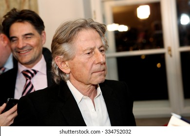 KRAKOW, POLAND - OCTOBER 30, 2015 : Polish film director Roman Polanski in court in Krakow after hearing on a request for his extradition to the USA. Cracow, Poland