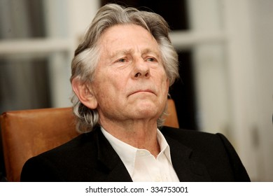 KRAKOW, POLAND - OCTOBER 30, 2015 : Polish film director Roman Polanski in court in Krakow after hearing on a request for his extradition to the USA. Krakow, Poland