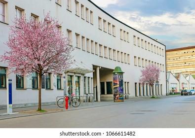 KRAKOW,POLAND - APRIL 11, 2018: Oskar Schindler's Enamel Factory in Krakow, Poland.