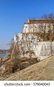 KRAKOW,POLAND - FEBRUARY 12, 2017: The Benedictine Abbey in Tyniec, Krakow, Poland.