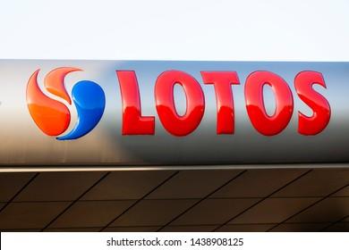 Krakow/Poland February 12, 2019 LOTOS gas station