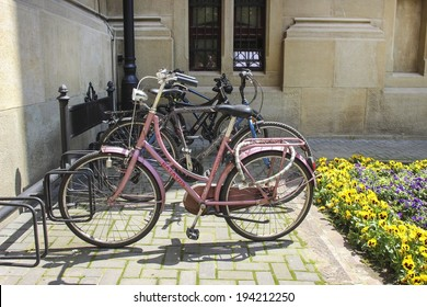 KRAKOW,POLAND - MAY 21,2014: City center of Krakow, bicycle stand