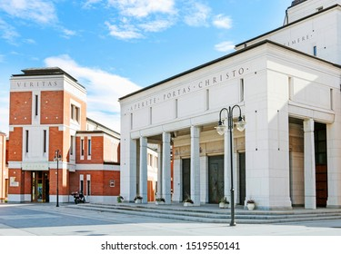 KRAKOW,POLAND - OCTOBER 01, 2019: John Paul II Centre named The Have No Fear. Its aim is to give comprehensive attention to the overall activity of Pope John Paul II.