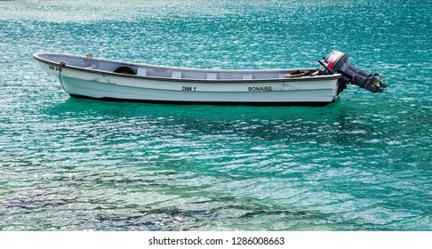KRALENDIJK, BONAIRE- December 18, 2015: Being south of the hurricane belt and because of the constant breeze, temperatures and little rain, Bonaire is a year round tourist and cruise ship destination