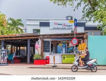KRALENDIJK, BONAIRE- November 17, 2016: Being south of the hurricane belt and because of the constant breeze, temperatures and little rain, Bonaire is a year round tourist and cruise ship destination
