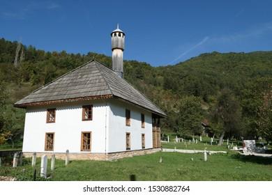 Kraljeva Sutjeska Bosnia and Herzegovina September 28th 2019 Mehmed II Fatih mosque 15th century  oldest in Bosnia