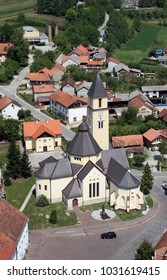 KRASIC, CROATIA - JUNE 22: Parish church of the Holy Trinity in Krasic, Croatia on June 22, 2007