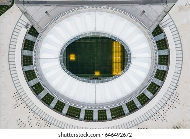 KRASNODAR, RUSSIA - April 14, 2017: Stadium FC Krasnodar from aerial view.