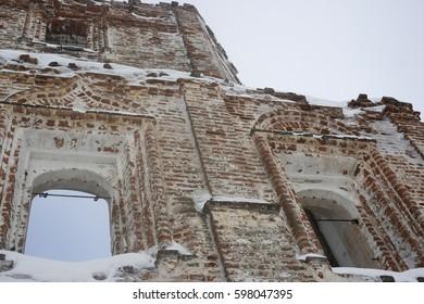 Krasnogorsk virgin monastery. Arkhangelsk oblast, the village of Red hill