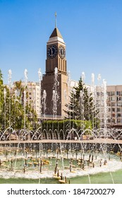 Krasnoyarsk Clock Tower is located in the center of Krasnoyarsk city in Russia
