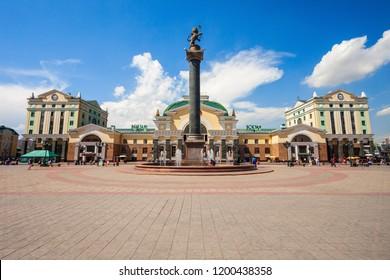 KRASNOYARSK, RUSSIA - JULY 06, 2016: Krasnoyarsk Trans-Siberian railway station in Russia. Krasnoyarsk is located on the Yenisei River in Russia