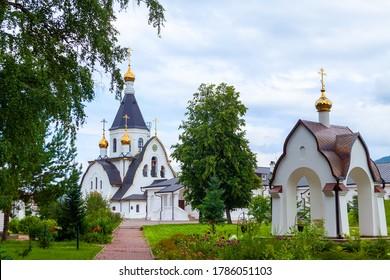 Krasnoyarsk, Russia, July 2020: Holy Dormition Monastery - Monastery, Krasnoyarsk