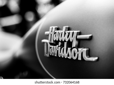 KRASNOYARSK / RUSSIA - June 10, 2017 / Harley-Davidson motor company. Exhibition of motorcycles. The Harley-Davidson Motorcycle Element.