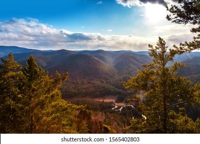 Krasnoyarsk, Torgashinsky ridge, Pillars Nature Reserve, beautiful view of the rocks