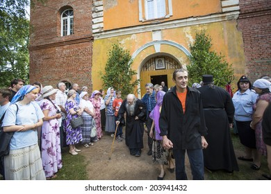 KRASNY BRONEVIK, RUSSIA - JULY 7, 2014: Celebrations commemorating the Rev. Anthony Dymsky (died 1224) in Antony Dymsky Monastery