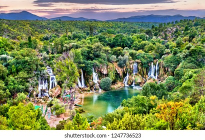Kravica waterfalls on the Trebizat River in Bosnia and Herzegovina - the Balkans, Europe