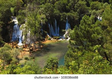 Kravice waterfalls and Trebizat river in Bosnia and Herzegovina