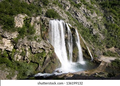 Krcic waterfall, near town Knin in Croatia