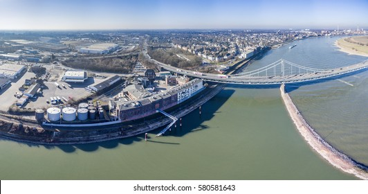 KREFELD / GERMANY - FEBRUARY 15, 2017 : Alberdingk Boley producing lineseed and castor oil in the harbour of Krefeld Uerdingen, Germany