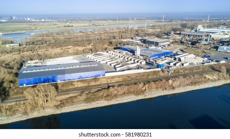 KREFELD / GERMANY - FEBRUARY 15, 2017 : MFG is shipping their products from the turnaround harbour of Krefeld, Germany