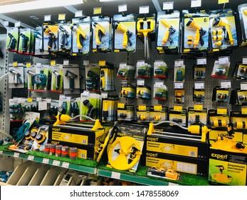 Kremenchuk/Ukraine - 10.08.2019: Garden Irrigation Systems on store shelf