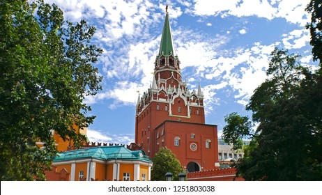 Kremlin Clock Tower on Red Square, Moscow, Russia