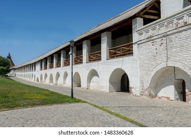 Astrakhan Kremlin. The impenetrable walls of the historic complex near the Water Gate. Astrakhan. Russia