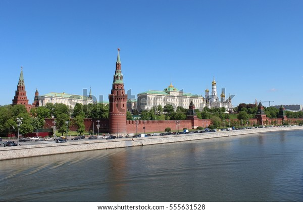 The Kremlin at the Moskva River in Moscow