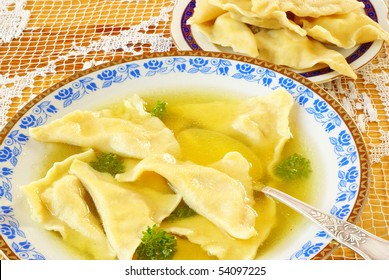 Kreplach (Jewish ravioli)