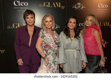 Kris Jenner, Paris Hilton, Kyle Richards, Faye Resnick attend The Glam App and Paris Hilton Launch Party at Cleo - Hollywood, Hollywood, CA on June 19, 2019
