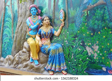krishna combing hair srimati radharani 260nw 1362188324