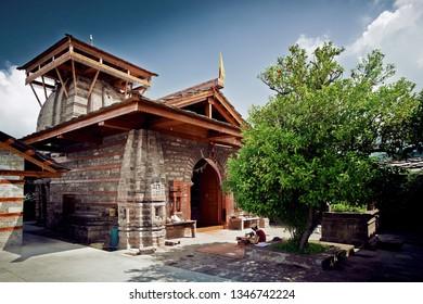 Krishna temple. Traditional countryside Krishna temple in Naggar. Himachal pradesh, north part of India.