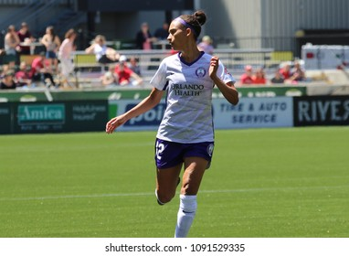 Kristen Edmonds  midfielder for Orlando Pride at Providence Park in Portland Oregon USA May 12,2018.
