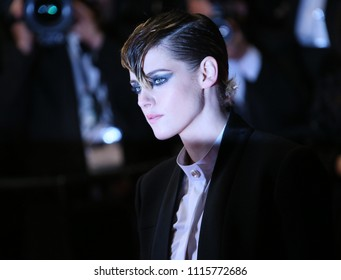 Kristen Stewart attends the screening of 'Knife + Heart (Un Couteau Dans Le Coeurr)' during the 71st annual Cannes Film Festival at Palais des Festivals on May 17, 2018 in Cannes, France.
