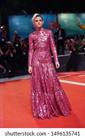 """Kristen Stewart walks the red carpet ahead of the """"Seberg"""" screening during the 76th Venice Film Festival at Sala Grande on August 30, 2019 in Venice, Italy."""