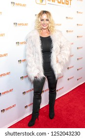 Kristi Shuton attends INFOList.com Red Carpet Re-Launch Party & Holiday Extravaganza! at SKYBAR at the Mondrian Hotel, Los Angeles, California on December 5th, 2018