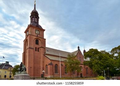 Kristine Church, Falun, Sweden. Constructed in 1642, the church is the parish church of Falu Kristine in the Diocese of Västerås of the Church of Sweden in Falun.