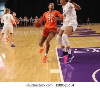 Krisynthia Sampson forward for the Texas-Rio Grande Valley Vaqueros women's basketball at GCU Arena in, Arizona/USA January 12,2019.
