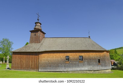 Krive near Bardejov, Slovakia - The wooden Greek Orthodox church of St. Luke the Evangelist. It was built about 1826. Old wooden churches are the pride of Slovakia.