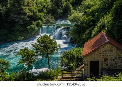 At krka waterfalls
