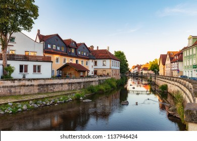 Kronach, Bavaria/Germany- July 19 2018: Medieval Historical Town in Franken in Summer