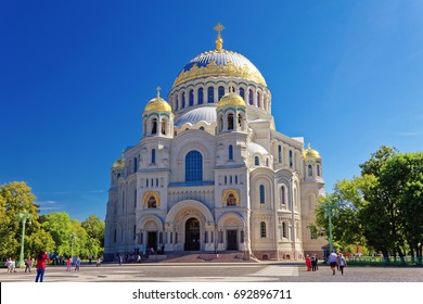 Kronstadt Naval Cathedral of Saint Nicholas near the Saint-Petersburg, Russia.
